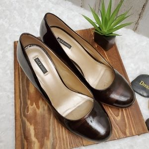 Alex Marie Two Tone Brown Heel Pumps Size 9